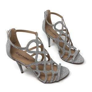 Zigi Soho  Rhinestone silver stiletto heel NWOT
